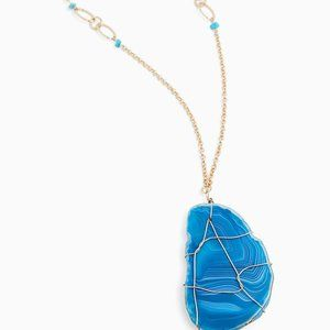 torrid Jewelry - TEAL BLUE WIRE PENDANT NECKLACE